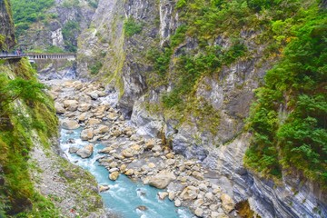 Scenic View of Taroko Gorge National Park in Taiwan