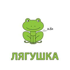 Cartoon Frog Flashcard for Children
