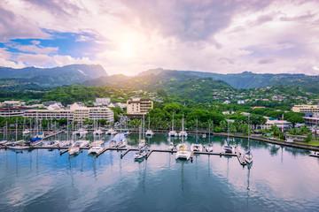 Fototapete - Papeete, Tahiti, French Polynesia