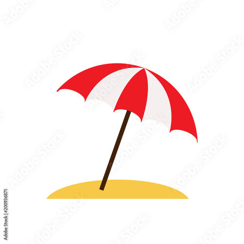 e0647bc2be Beach umbrella isolated on white background. Vector stock.