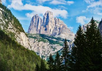 Dolomite mountains near Cortina d'Ampezzo. Monte Piana peak