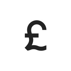 Pound Symbol Glyph Icon Vector