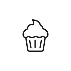 Cupcake line icon
