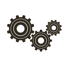 Gears on a white background. Vector icon