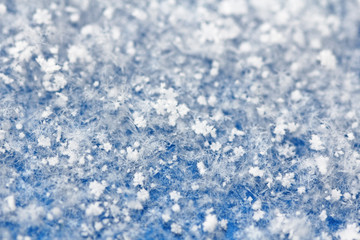 Snowflakes. Background of snow. Snow and winter background