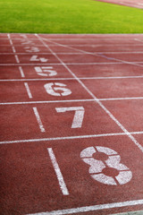 Sports running track, court