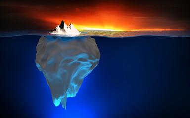 Eisberg bei Sonnenuntergang