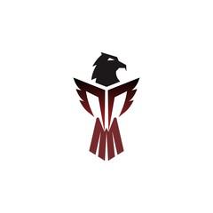 eagle logo design for emblem or mascot