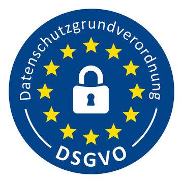 Button Datenschutzgrundverordnung DSGVO
