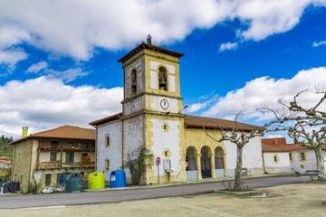 Iglesia de la localidad burgalesa de Gayangos, España
