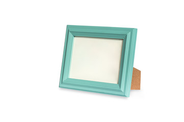 Blank green frame, isolated on white background with clipping path.