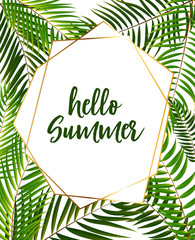 Hello Summer Background. Vector Illustration