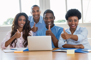 Group of successful african american businesspeople