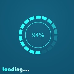 loading logo design for game or process