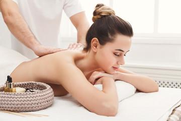 Classical body massage at spa salon
