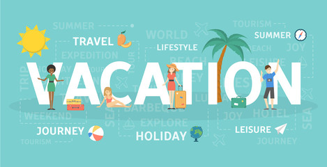 Vacation concept illustration.