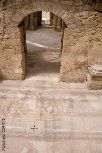 Piazza Armerina, Sicilia, Italia. pavimenti , mosaico, arte, romani ...