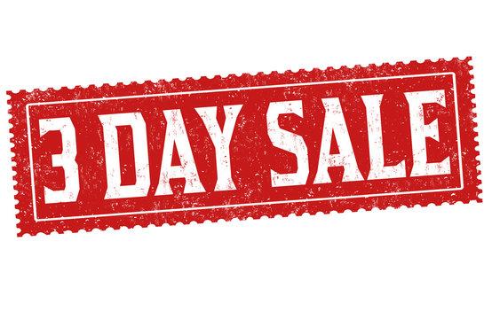 3 day sale grunge rubber stamp
