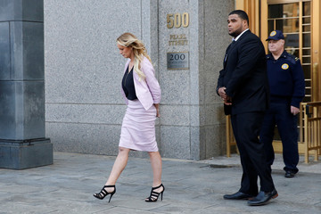 Adult-film actress Stephanie Clifford, also known as Stormy Daniels departs federal court in the Manhattan borough of New York City