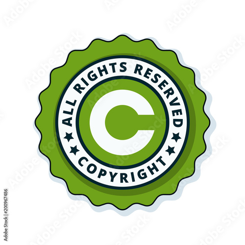 Copyright All Rights Reserved Illustration Stock Image And Royalty