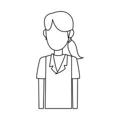 Young nurse cartoon vector illustration graphic design