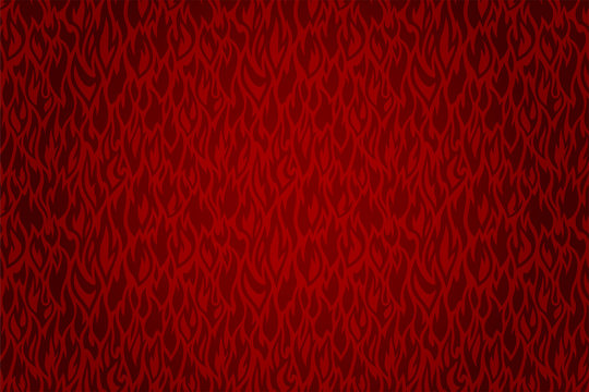 Hot background with beautiful vector red fire pattern