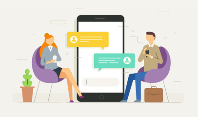 Chat messages notification on smartphone