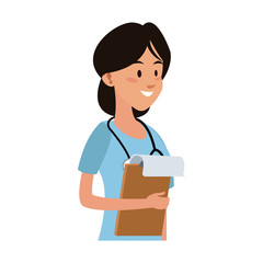 Female doctor cartoon vector illustration graphic design