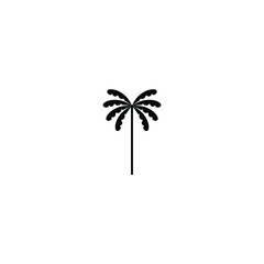 Palm simple vector. Flat sign for mobile concept and web design