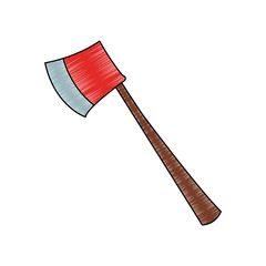Emergency axe isolated vector illustration graphic design
