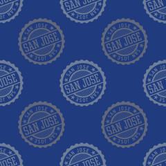 San Jose seamless pattern. Seamless badge pattern, backdrop for your design.