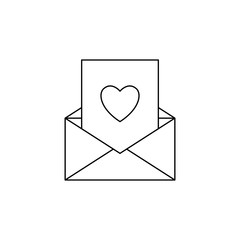 card with heart in envelope icon. Element of mother day for mobile concept and web apps. Thin line  icon for website design and development; app development. Premium icon