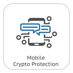 Mobile Crypto Protection Icon.