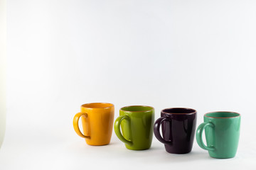 Cups at an angle