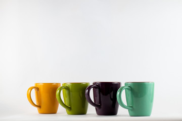 Coffee Cups Lined Up