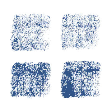 Denim  imprint . Vector texture on white background