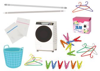 洗濯関連イラストセット