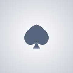 Peaks icon, spade icon
