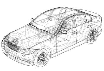 Concept car. Vector