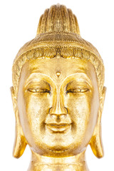 tête de bouddha, fond blanc