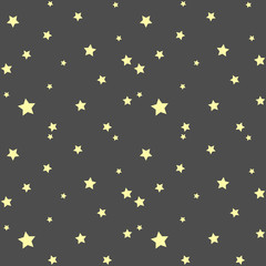 Seamless pattern with simple stars
