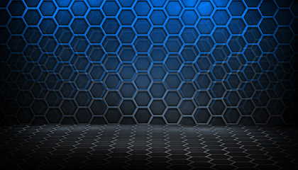 abstract metal with honeycomb pattern background