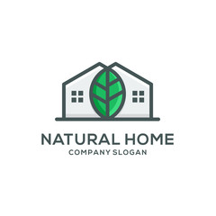 natural home logo template vector illustration download