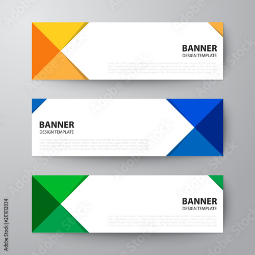 banners web design template abstract vector background\