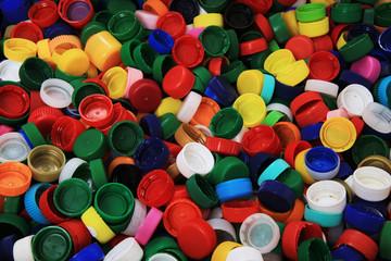 color plastic caps texture