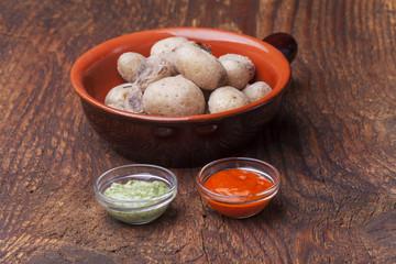 Kartoffeln von Kanarischen Inseln mit Mojo