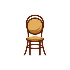 furniture logo design, chair vector  illustration