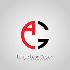 AG letter logo circle design.