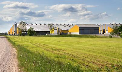 Countryside modern farm.