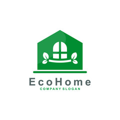 Creative Green House Concept logo design vector illustration